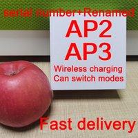 Aire Gen 3 AP3 H1 Auriculares de chips Transparencia Metal Bisagra de metal Carga inalámbrica Auriculares Bluetooth PK PODS 2 AP PRO AP2 W1 Auriculares 2nd géneros