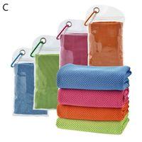 4шт спортивное охлаждение полотенце из микрофибры льда мягкий дышащий холодный для йоги фитнес бегущий тренировки гольф и более одеяла Activi