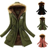 Women's Jackets Autumn Hoodies Jacket Women Winter Military Coats Cotton Wadded Hooded Casual Parka Thickness Warm Quilt Snow Outwear