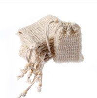 Natural Exfoliating Mesh Soap Saver Sisal Soa p Save Bag Sponges Pouch Holder For Shower Bath Foaming And Drying A004
