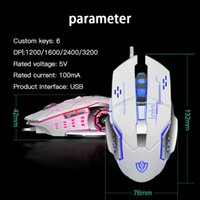 Mice 6 Buttons Gaming Mouse Wired Four-way Wheel Luminous Esports Mechanical 4 Gears For Computer Laptop Peripherals