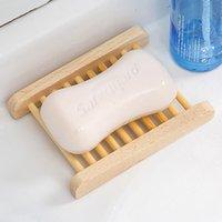 Supporto per sapone in legno Scaffale Bagno Bagno Bagno Box Vassoio Piastra Contenitore Accessori 11.5 * 9 cm HH7-833