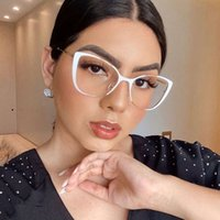 Fashionable Metal Cat Eye Glass Spectacle Fram For Women Degree Optical Frame Filters Radiation Blu-ray Trendy Accsori