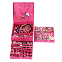 صندوق مجوهرات الفانيلا، الجملة بالجملة مخصص مساحة كبيرة مربع صناديق تخزين مربع الطبقات
