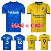 21 22 Birmingham Soccer Jerseys 2021 2022 City Sam Gallagher Jersey Män Kids Kits Lukasz Jutkiewicz Classic Sports Home Blue Away Red Football Shirts