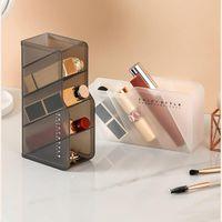 Desktop Cosmetic Storage Box Desk Pen Holder Makeup Organizer Stand Case Jewelry Nail Polish Container Hooks & Rails
