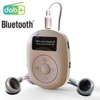 Mini DAB Radio Ricevitore Supporto 3.5mm Auricolare Portatile Sport Bluetooth Mani libera 60 stazione Preset 6 Relax Sound