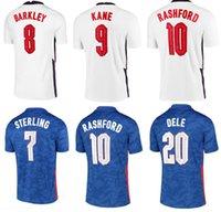 2021 England Dele Alli 축구 유니폼 Kane Rashford Vardy Barkley Sterling Sturridge Sancho Jersey 2021 성인 남성 크기 S-4XL