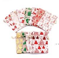 Bronzing Weihnachten Kordelzug Tasche Beutel Geschenk Wrapper 10 * 14 cm Metallic Candy Treat Taschen 13 * 18 cm Birthday Festival Party Favor OWB10352