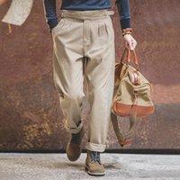 Maden Pantaloni vintage elastico Pantaloni Mens Tuta Cargo Lavoro Pant Pant Casual Tuta SATEEN CLASSIC CLASSIC STRIGHT PANTALONDERSTURE TOUNDS UOMO