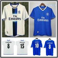 Retro 2003 2004 2005 Jersey de fútbol clásico Vintage 03 04 05 Camisa de fútbol GUDJOHNSEN COLE ROBBEN ZOLA HASSELBAINK GEREMI DROGBA