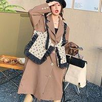 Women's Wool & Blends Design Ruffle Waistcoat Fashion Brand Long Coat Loose 2021 Autumn M9353