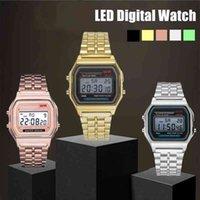 Diseñador de lujo de lujo relojes n hombres oro plata vintage led deportes digital pulseras militares regalo regalo electrónico masculino promoción A ++
