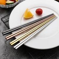 1 пара из нержавеющей стали китайская палочка для еды китайских палочек нескользящей по многоразовой металлической палочкой для суши пищевые палочки посуда кухонный инструмент