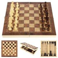 حار أعلى جودة خشبية قابلة للطي الشطرنج المغناطيسي مجموعة الصلبة الخشب الشطرنج أجزاء المغناطيسي الترفيه مجلس ألعاب الأطفال هدايا 861 Z2