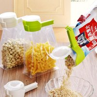 Selo despeje o saco de armazenamento de alimentos clipe snack selagem clipes mantendo fresco selador braçadeira plástica helper alimentos protetor de cozinha ferramentas de cozinha wll744