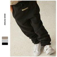 3 Renkler Çocuk Erkek Kızlar G OD ESS * Pantolon Spor Diamical Peluş Pantolon Rahat Pantolon Çocuk Sürümü Artı Kadife Gömlek Sıcak Gevşek Moda Giysileri