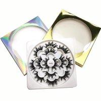 False Eyelashes 7 Pairs 25 Mm 3d Mink Lashes Bulk Faux With Custom Box Wispy Natural Pack Short Wholesales