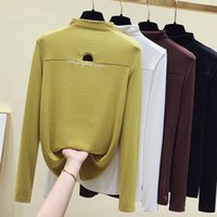 Women's Sweaters Spring superior sexy fall shirt female elasticity Korean style thin tshirt casual sleeve long clothes GZ5V