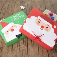 Navidad víspera grande caja de regalo Santa Claus diseño de hadas Kraft PaperCard presente Favor de la fiesta Favor de la caja Red Green regalos Paquete DHL HWF7334