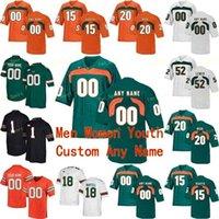 Ra NCAA College Jerseys Miami الأعاصير 7 شفرات JR.80 Jimmy Graham 94 Dwayne Johnson 97 Jonathan Garvin كرة القدم مخصص مخيط