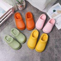 2020 Autunno e inverno New Home Bambini in cotone Pantofole in cotone EVA Scarpe impermeabili Chiuse-Toe Pantofole Calda Peluche SCARPE IMBODDED SCARPE PER DONNE