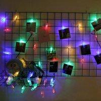 Strips 1.5m PO Pic Clip Porte-Cordes LED String Lights Batterie Powered Christmas De Noël Fête de la Saint Valentin Décoration de Ramadan Fairy