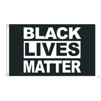 50 adet Doğrudan Fabrika Toptan 90 * 150 cm 3x5 FTS Siyah Hayatlar Madde Bayrak BLM Barış Protesto Açık Banner Owe5586