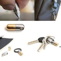 Capsule Knife Sharp Keychain Micro Cutting Tool function Open Can keychains Pocket Cutter Pill Mini For Travel DHD7302