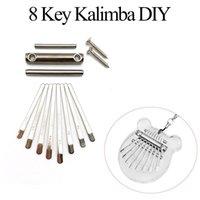 Kalimba Keys DIY Thumb Piano 8 Tuşları Köprü Saddle Donanım Paketi MBIRA DIY Yedek Parçaları Aksesuar için