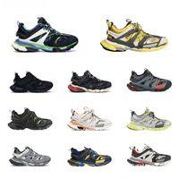 2021 أصيلة الرجال النساء المسار 3.0 أحذية رياضية ركض الثلاثي s سرعة سوداء أحذية رياضية خضراء الأزياء المدربين 18ss مع المربع الأصلي