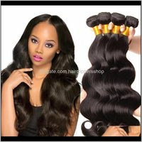 Capless Wigs Productshair Weaving 1Pc Brazilian Virgin Human Hair 100Percent Weave 8A Body Wave Drop Delivery 2021 Lmys1