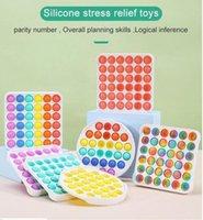 США стоковые новейшие многоцветные POP IT FIDGET SENSOY POSTS TOYS Bubble Board игра Беспокойство Стресс Редиверс Детские взрослые аутизм Особые потребности