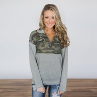 Women camo pullover zipper arm green long sleeve camouflage jersey Autumn new design pocket style tunic coat blank monoogrammed