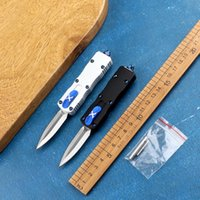 Mini tactical quick opening outdoor folding knife aviation aluminum handle D2 blade guard hunting self-defenseEDC tool holiday gift