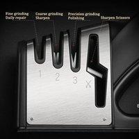 4 em 1 Sharpeners liga tesoura de cerâmica tesoura apontador portátil desgaste resistente a whetstone com punho brindstone acessórios DHE5615