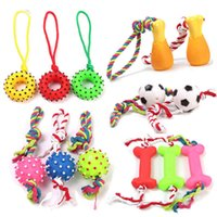 Puzzle 1pc Dog Toys Molar Teeth Sounding Vinyl Drawstring Football Chicken Leg Bone Pet Dogs Pets Accessories