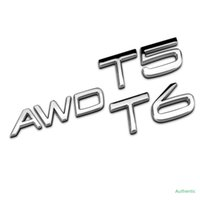 3D 금속 AWD T5 T6 Volvo S40 S60 S80 V40 V50 V60 S90 C30 XC40 XC60 XC70 XC90 자동 엠 블 럼 액세서리