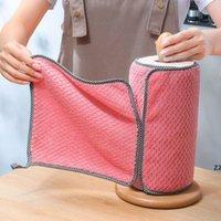 Бытовые кухонные тряпки гаджеты микрофибры полотенце чистящие ткань без палочки нефть утолщенная чистящаяся ткань может поглощать стирку HWF8450
