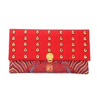 Paquete de tela de bordado de sobres rojo Lucky Money Bolsets para el año Festival de primavera Wedding EJ regalo envoltura