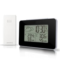 Digital Alarm Clock Weather Station Wireless Sensor Hygrometer Thermometer Watch LCD Time Desktop Table Clocks Show Indoor Outdoor Temperature Humidity