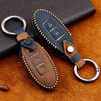 Echtes Leder Auto Key Cover für Sentra Livina Tiida Marc Kicks X-Trail Teana J10 J11 T32 Qashqai