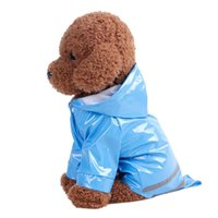 Dog Apparel Puppy Pet Rain Coat Summer Outdoor S-XL Hoody Waterproof Jackets PU Raincoat For Dogs Cats Clothes