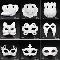 Makyaj Dans Beyaz Maskeleri Embriyo Kalıp DIY Boyama El Yapımı Maske Hamuru Hayvan Cadılar Bayramı Festivali Parti Maskeleri Beyaz Kağıt Yüz Maskesi RRA8397