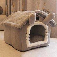 القط أسرة الأثاث طوي عميق النوم منزل الحيوانات الأليفة داخلي الشتاء الدافئ دافئ سرير ل كلب صغير هريرة تيدي لوازم بيت الكلب المريح