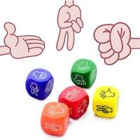 20mm 재미 있은 주사위 보드 게임 장난감 창조적 인 손가락 추측 게임 바위 종이 가위 스톤 패밀리 파티 0185