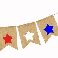 Neue Burgee Flaggen Independence Tagen Fünfzeige Sterne Swallowtail Banner American National Day Saite Flag Flagge Banner Dekoration EWE7470