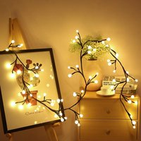 Party Decoration Vines Lights Copper Wire String Plug In Curtain Indoor Outdoor Christmas Wedding Holiday Tree Decor 72 LEDs