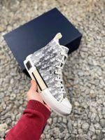 2021 Designer Zapatos casuales para hombre zapatillas de deporte B23 Mujeres Menores Marcas Moda oblicua para mujer High Low Low Top B24 Técnico Cuero Bee Classic Luxurys Entrenadores
