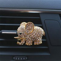 Car Air Freshener Diamond Crystal Elephant Perfume Clip Lady Styling Outlet Accessories 5cm X 3.5cm